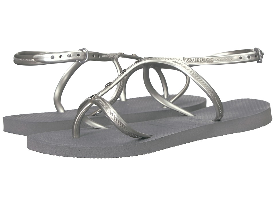 Havaianas - Allure Maxi Flip-Flops (Steel Grey) Women's Sandals