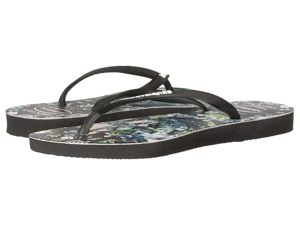 Havaianas Slim Handsome Flip-Flops (Black) Women