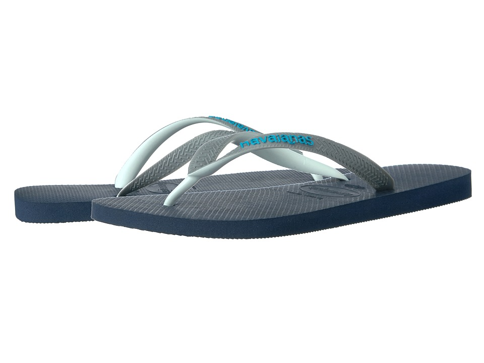 Havaianas - Top Mix Flip Flops (Navy Blue/Steel Grey) Men's Sandals