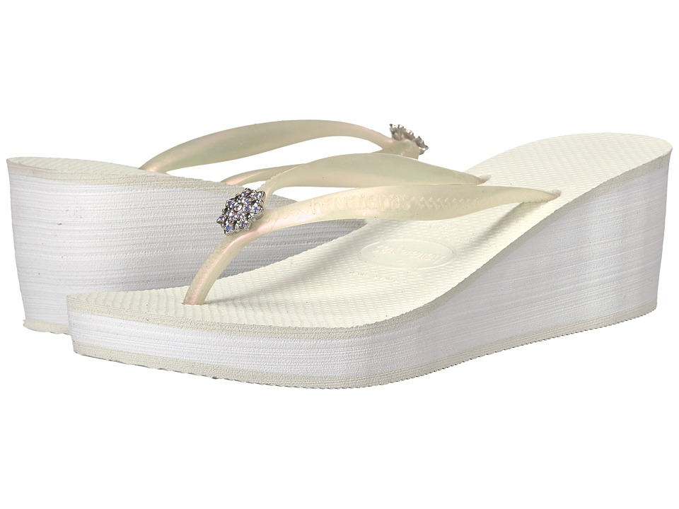 Havaianas High Fashion Poem Flip-Flops (White) Women
