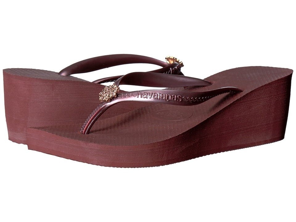 Havaianas High Fashion Poem Flip-Flops (Grape Wine) Women