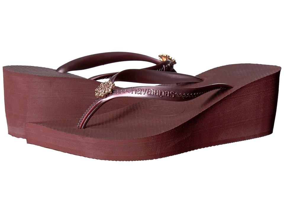 Havaianas - High Fashion Poem Flip-Flops (Grape Wine) Women's Sandals