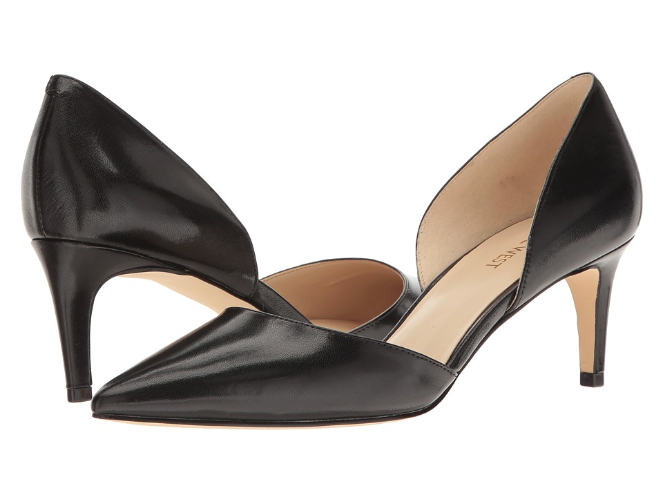 Nine West - Solis (Black Leather) High Heels