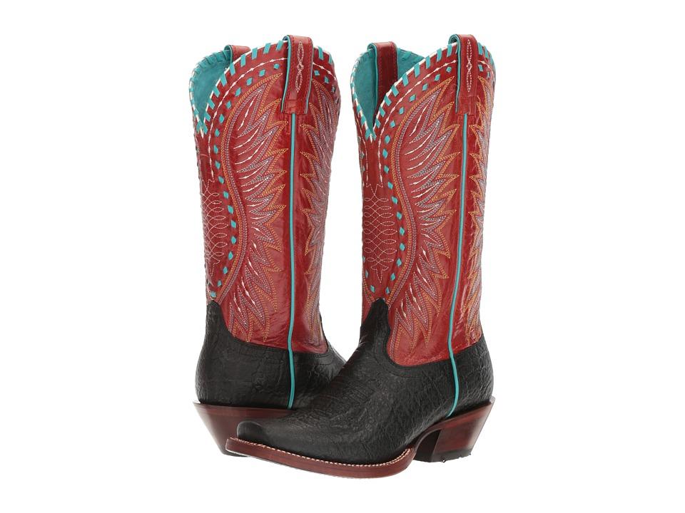 Ariat Derby (Black Elephant Print/Scarlet) Cowboy Boots