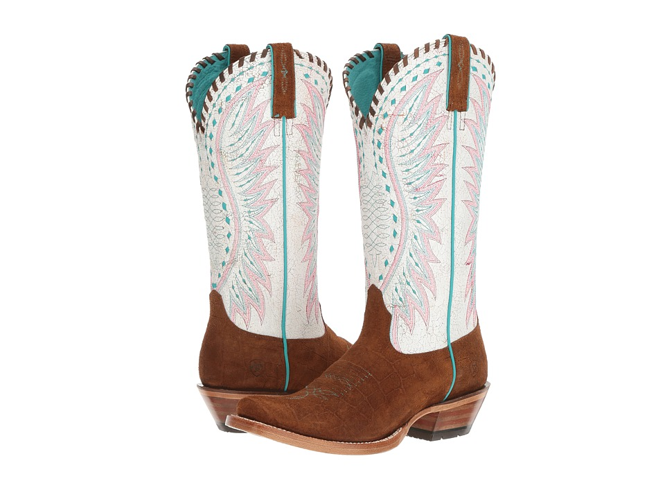 Ariat - Derby (Rough Mustang/Crackled Rainbow) Cowboy Boots