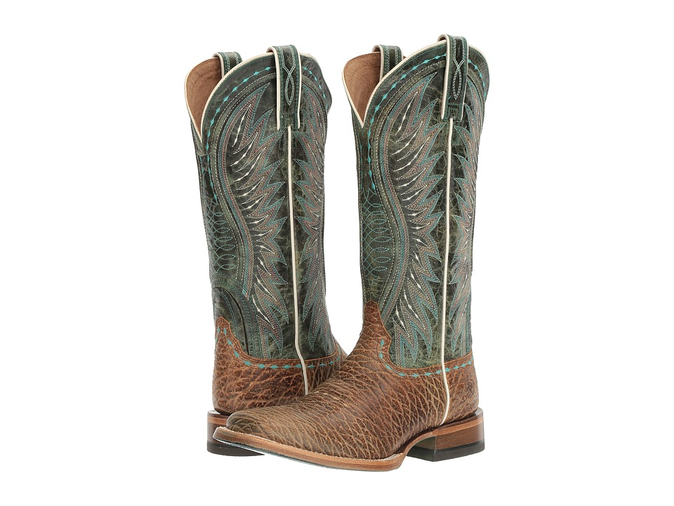 Ariat - Vaquera (Misty Turquoise Elephant Print/Meadowbrook) Cowboy Boots