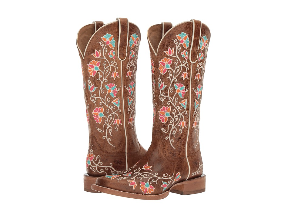 Ariat - Carmelita (Bite the Dust Brown) Cowboy Boots