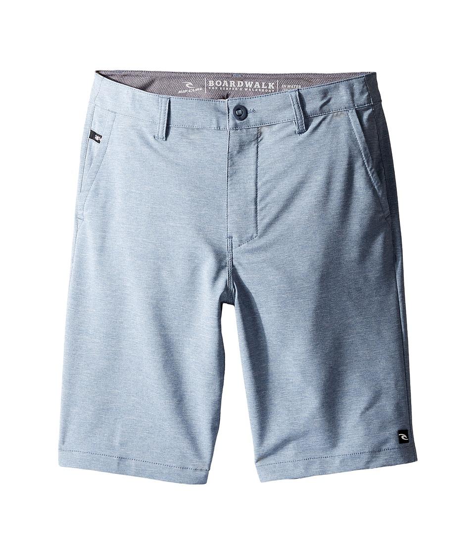 Rip Curl Kids - Mirage Phase Boardwalk Shorts (Big Kids) (Blue/Grey) Boy's Shorts