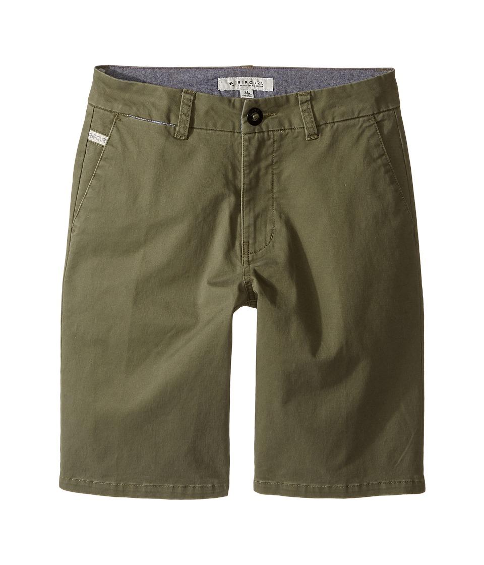 Rip Curl Kids - Legion Walkshorts (Big Kids) (Military Green) Boy's Shorts