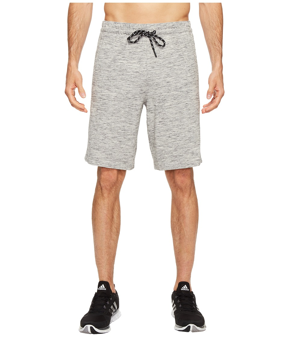 adidas - Essentials Heathered Piqu Shorts (Medium Grey Heather) Men's Shorts