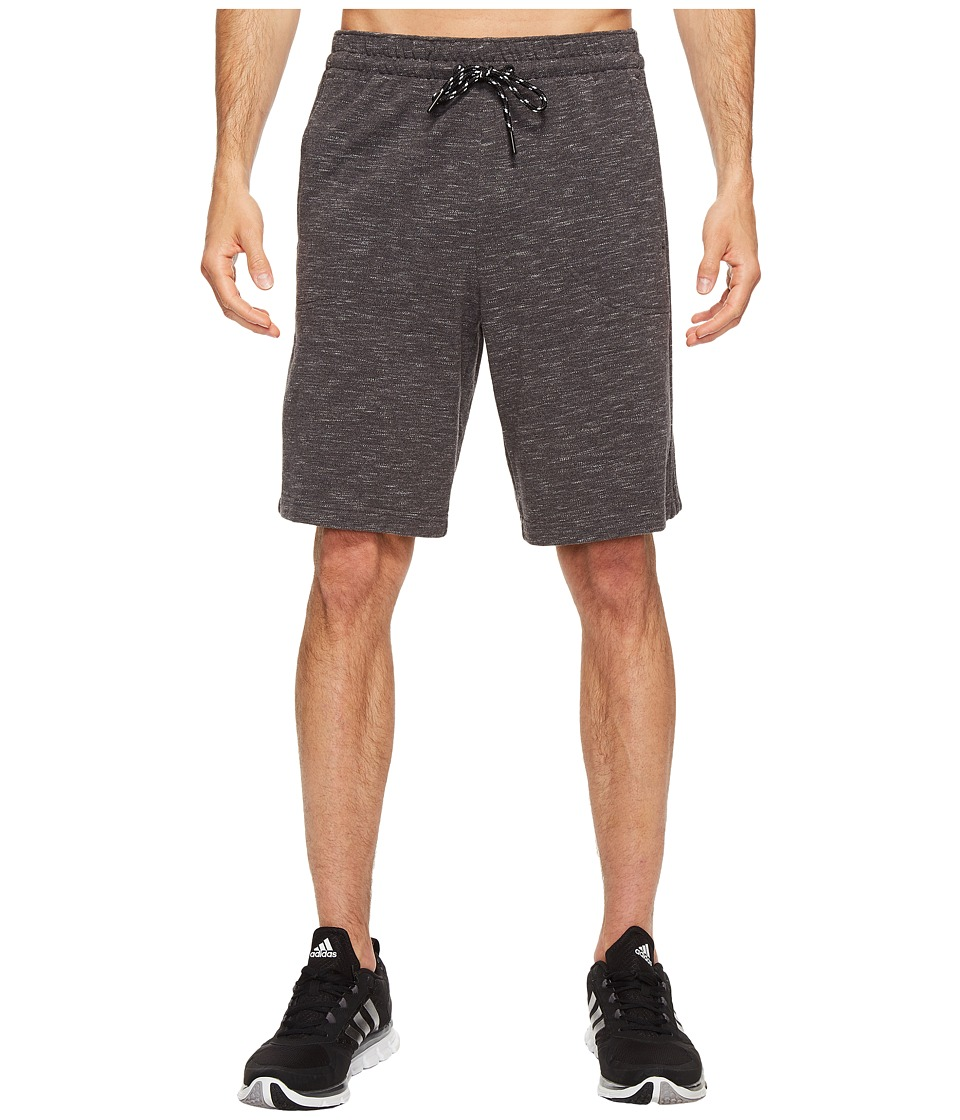adidas - Essentials Heathered Piqu Shorts (Dark Grey Heather) Men's Shorts