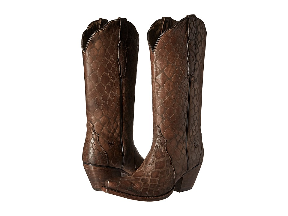 Ariat Antebellum (Naturally Brown Snake Print) Cowboy Boots