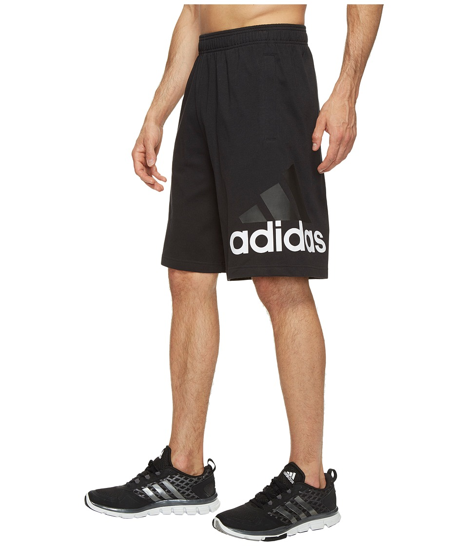 adidas - Jersey Shorts (Black) Men's Shorts