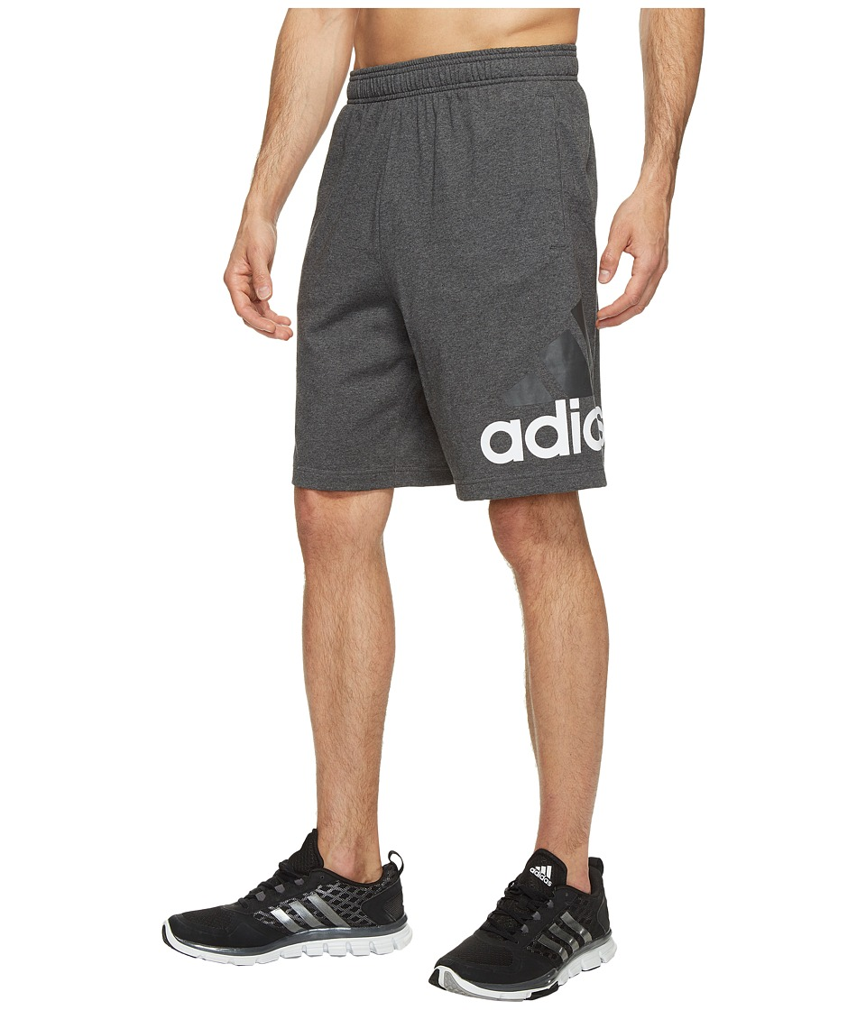 adidas - Jersey Shorts (Dark Grey Heather) Men's Shorts