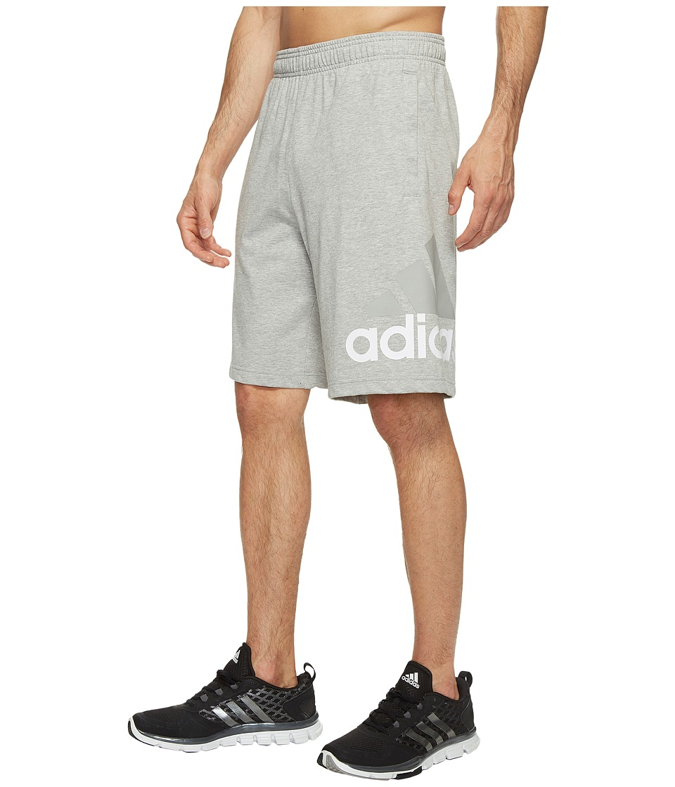 adidas - Jersey Shorts (Medium Grey Heather) Men's Shorts