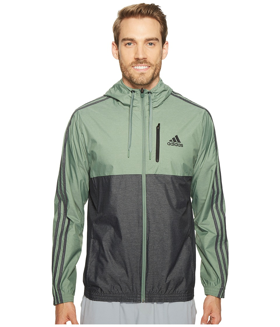 adidas - Essentials Wind Jacket (Trace Green/Black) Men's Coat