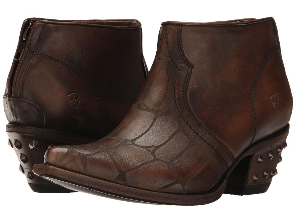 Ariat Jadyn (Chocolate Croc Print) Cowboy Boots