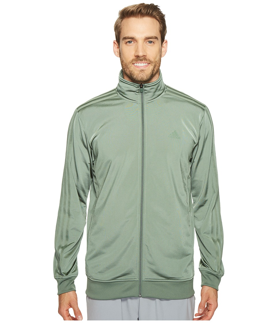 adidas - Essential Tricot Track Jacket (Trace Green/Trace Green) Men's Coat