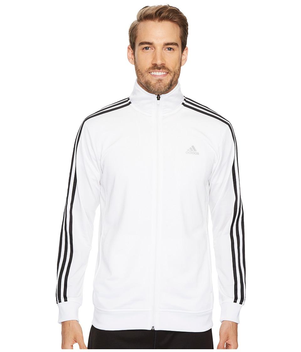 adidas - Essential Tricot Track Jacket (White/Black) Men's Coat