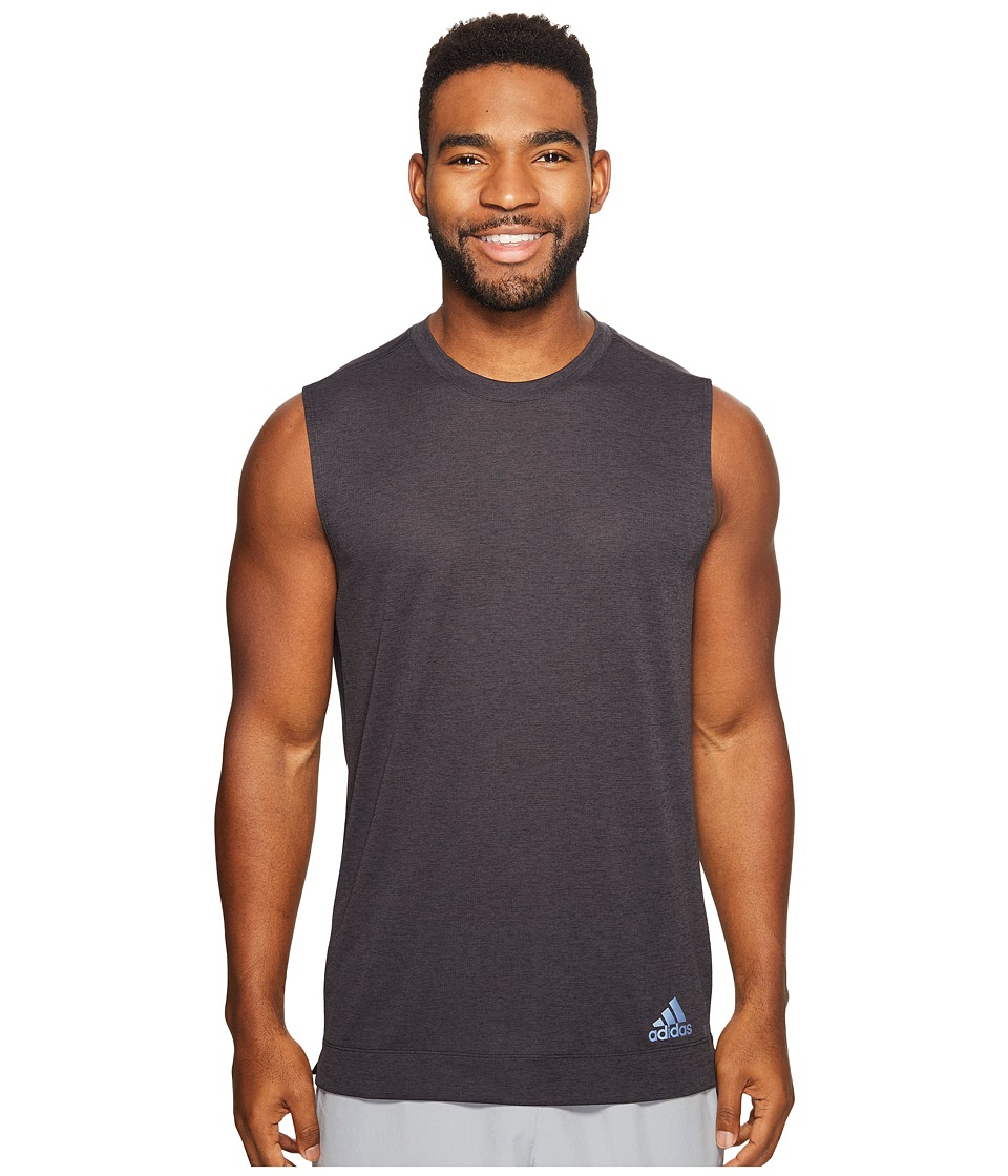 adidas - Climachill Sleeveless Tee (Chill Black Melange) Men's Sleeveless
