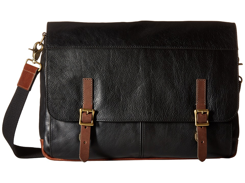 Fossil - Defender Messenger (Black) Messenger Bags