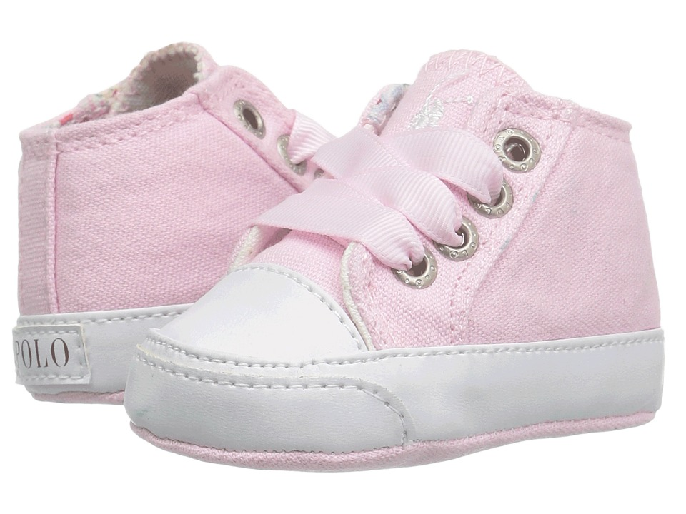 Polo Ralph Lauren Kids - Bailey (Infant/Toddler) (Light Pink Canvas/Cream) Girl's Shoes