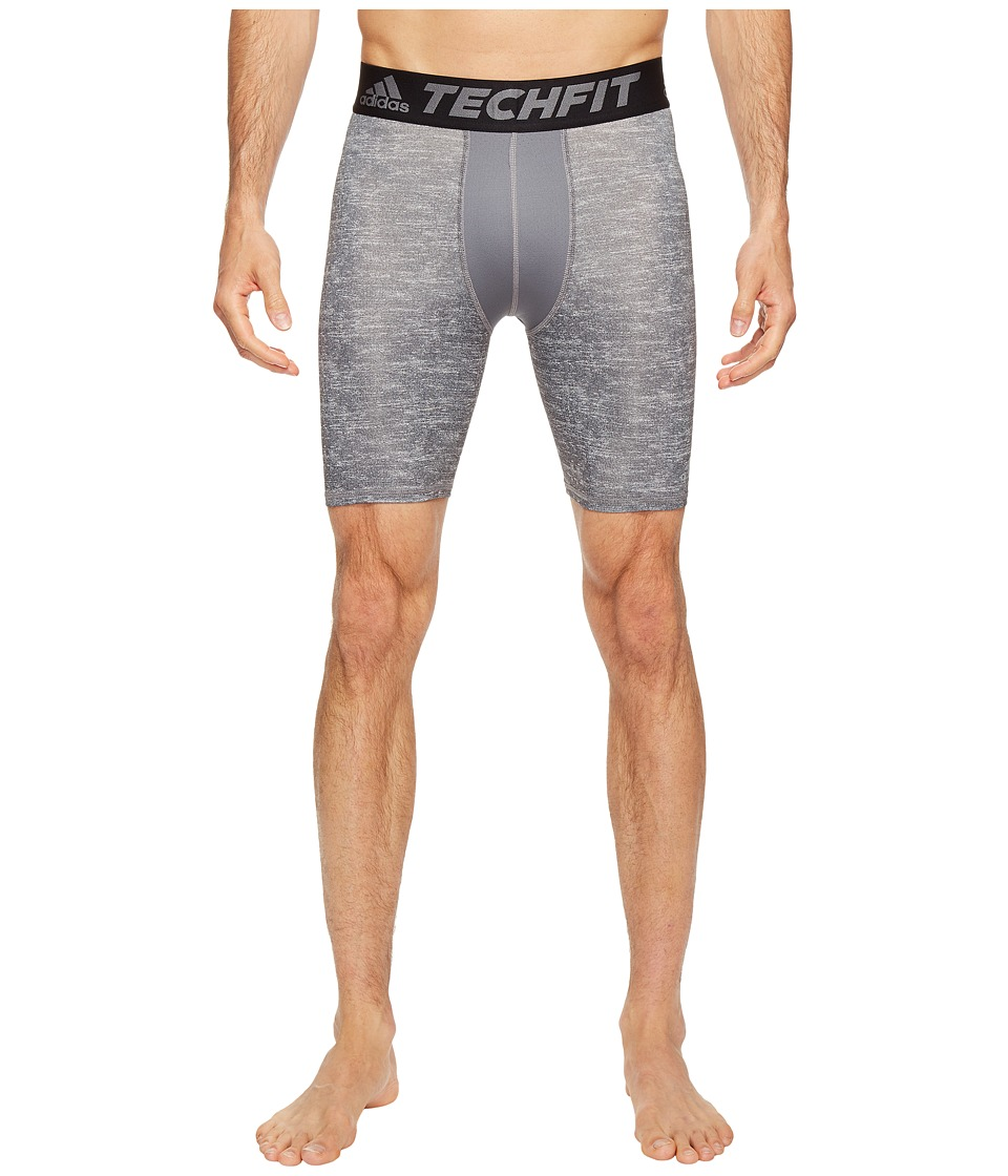 adidas - Techfit Compression 7 Short Tights (Core Heather) Men's Shorts