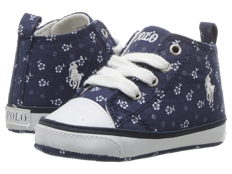 Polo Ralph Lauren Kids - Harbour Hi (Infant/Toddler) (Indigo Micro Floral/White) Kid's Shoes