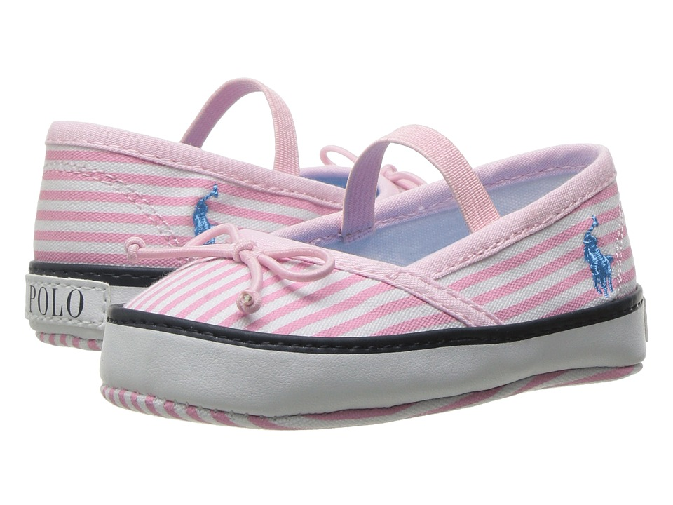 Polo Ralph Lauren Kids - Prima (Infant/Toddler) (Light Pink Stripe/Teal) Girl's Shoes