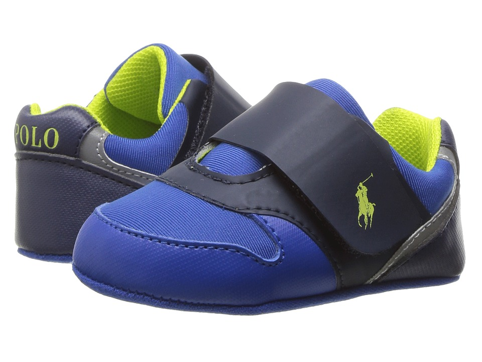 Polo Ralph Lauren Kids - Propell II (Infant/Toddler) (Navy Neoprene/Royal/Yellow) Kid's Shoes
