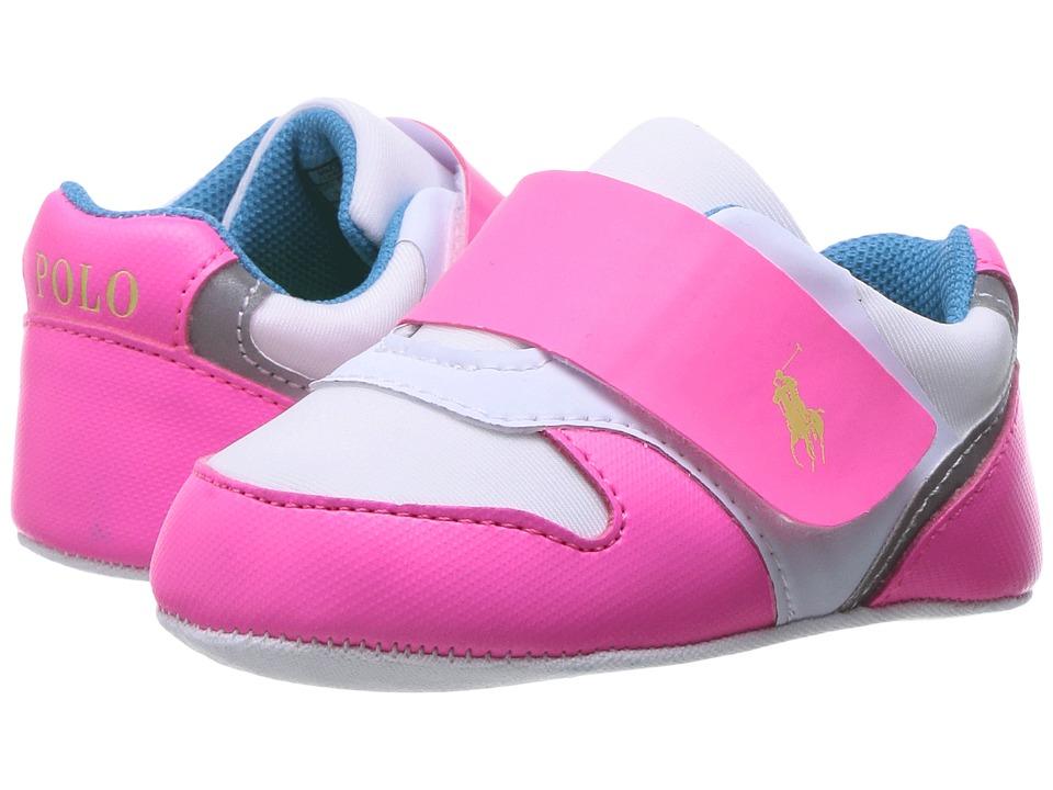 Polo Ralph Lauren Kids - Propell II (Infant/Toddler) (White Neoprene/Pink /Blue) Kid's Shoes