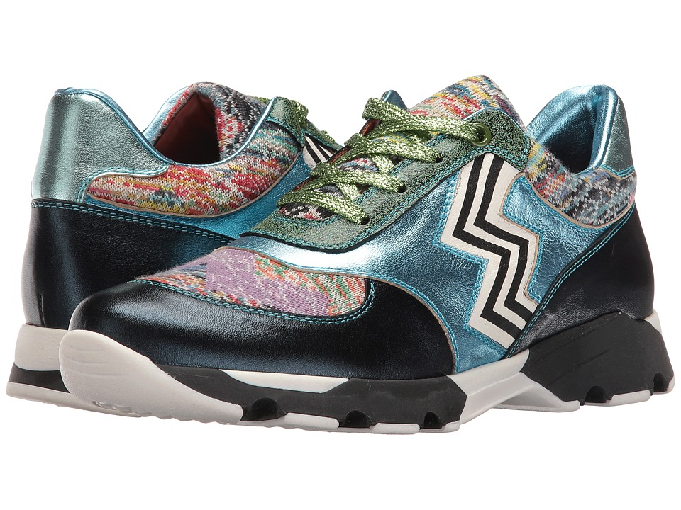 Missoni Metallic Print Sneaker (Blue) Women
