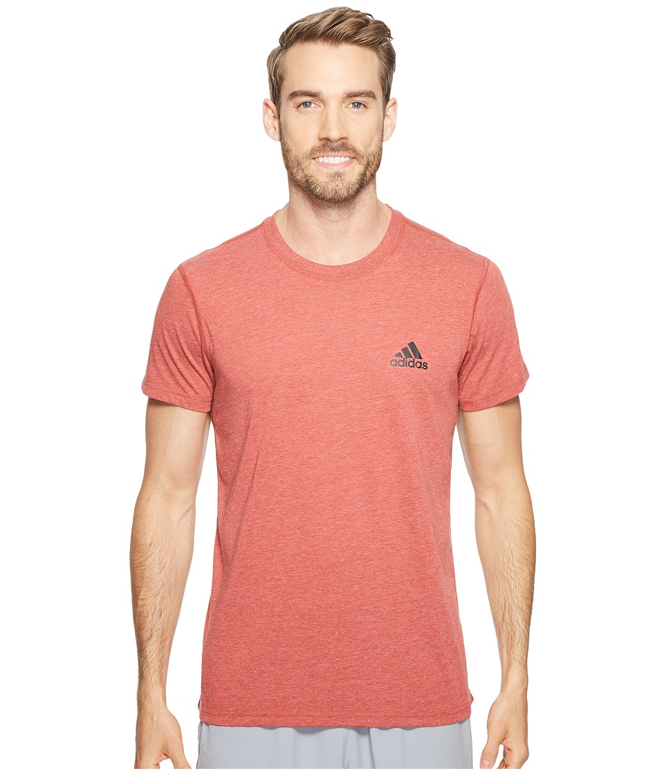 adidas - Ultimate Crew Short Sleeve Tee (Mystery Red Heather) Men's T Shirt