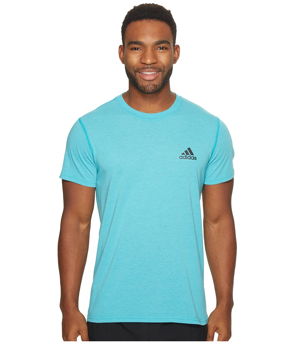 adidas - Ultimate Crew Short Sleeve Tee (Energy Blue Heather) Men's T Shirt