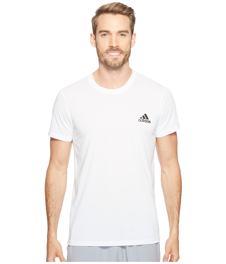 adidas - Ultimate Crew Short Sleeve Tee (White) Men's T Shirt