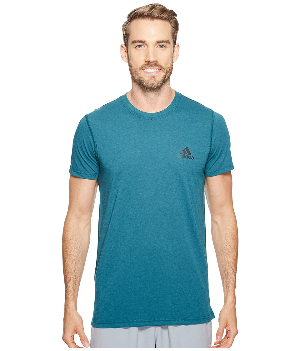 adidas - Ultimate Crew Short Sleeve Tee (Mystery Green) Men's T Shirt