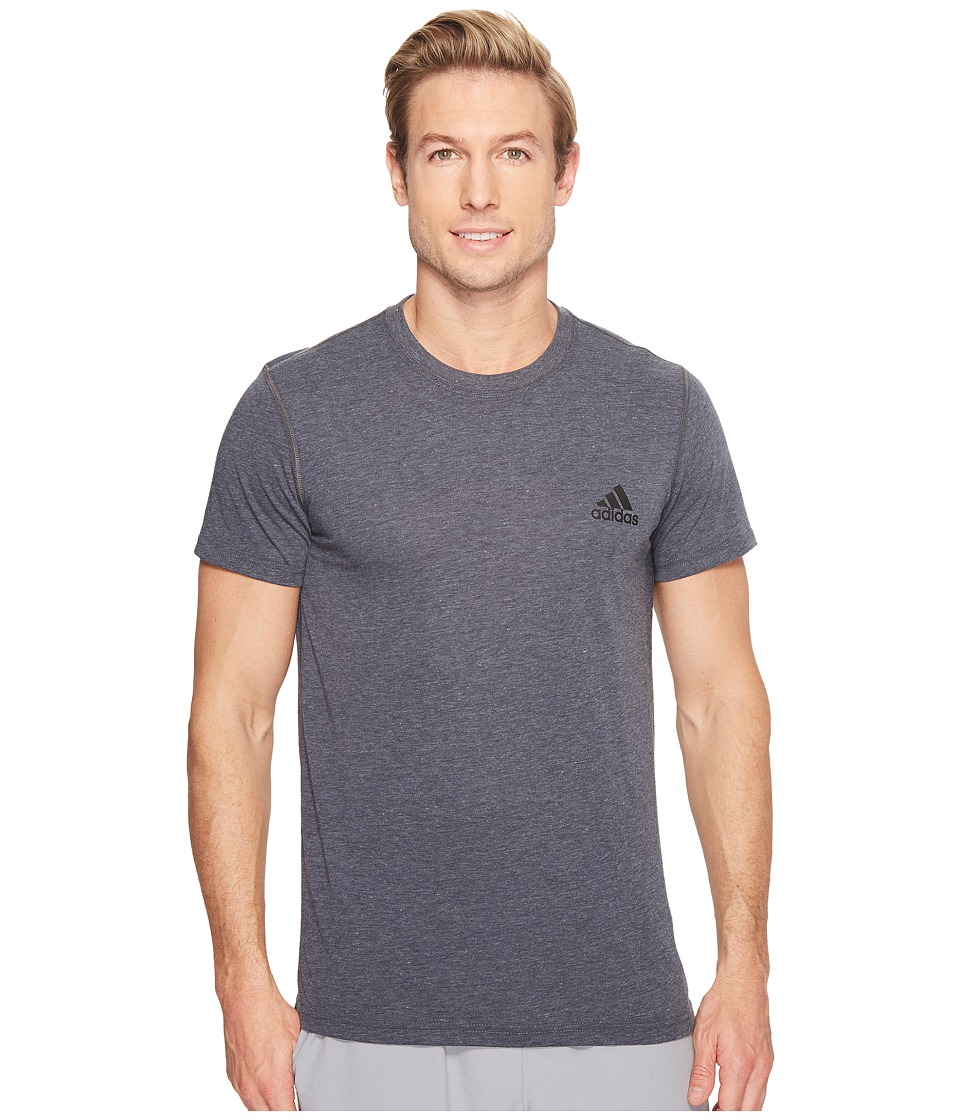 adidas - Ultimate Crew Short Sleeve Tee (Dark Grey Heather) Men's T Shirt
