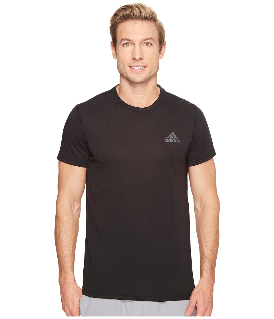 adidas - Ultimate Crew Short Sleeve Tee (Black) Men's T Shirt
