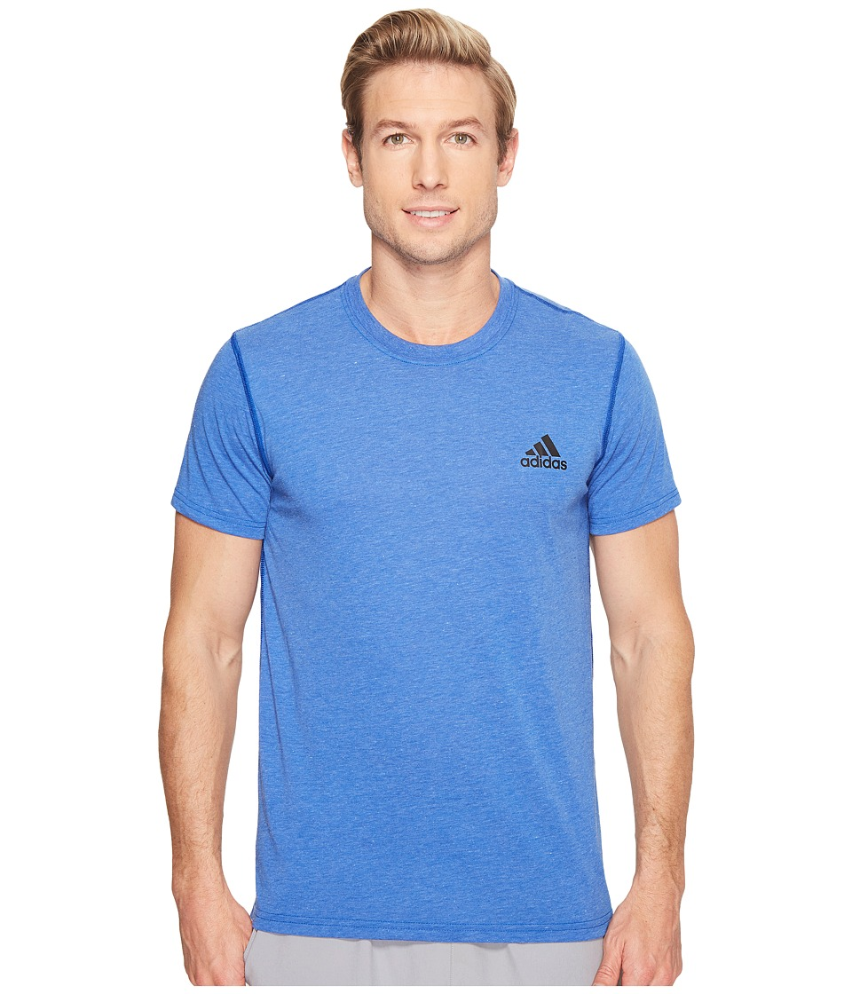 adidas - Ultimate Crew Short Sleeve Tee (Collegiate Royal Heather) Men's T Shirt