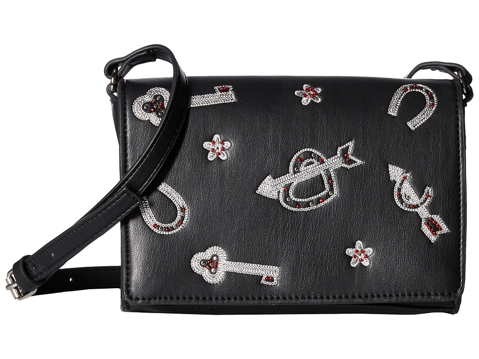 French Connection - Hazel Crossbody - Charm (Black) Cross Body Handbags