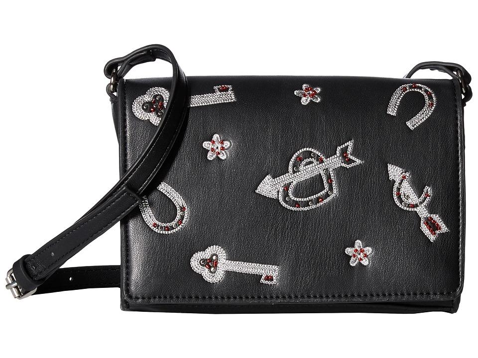 French Connection - Hazel Crossbody - Charm (Black) Cross Body Handbags