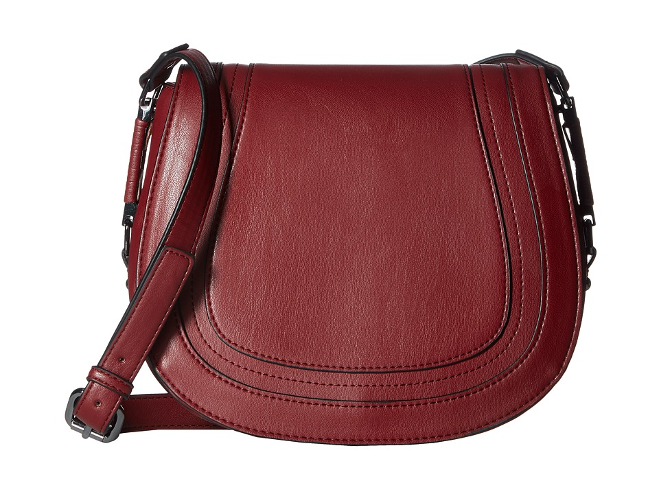 French Connection - Liza Large Crossbody (Berry Red) Cross Body Handbags