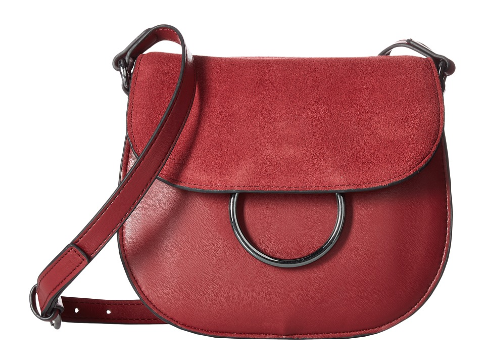 French Connection - Delaney Saddle Bag (Berry Red) Handbags
