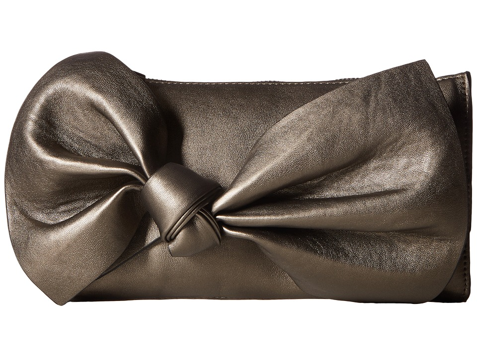 French Connection - Kendra Clutch (Dark Silver Metallic) Clutch Handbags