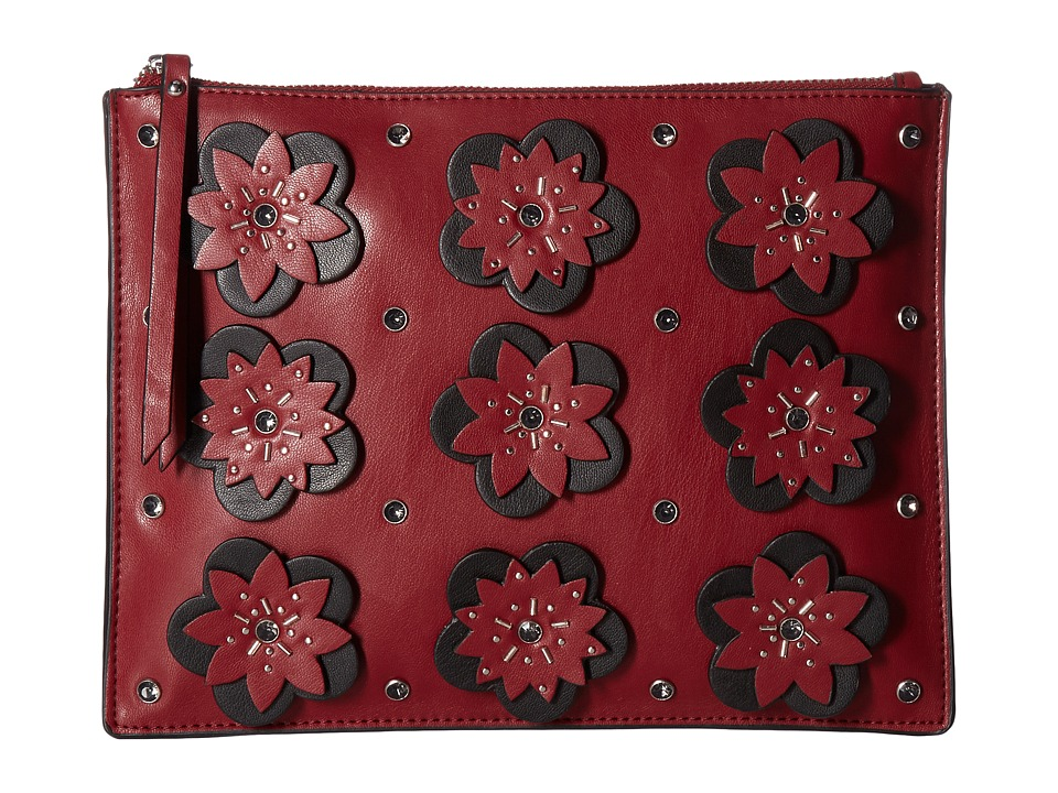 French Connection - Lynn Clutch (Berry Red) Clutch Handbags
