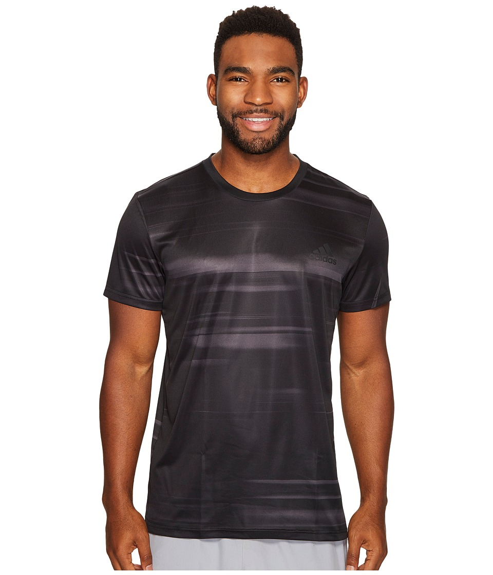 adidas - Essentials Speed Blur Tech Tee (Utility Black) Men's T Shirt