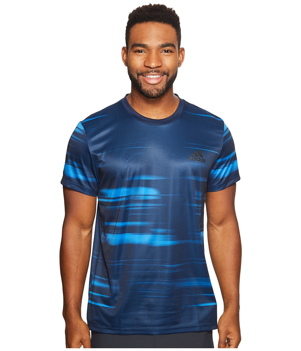 adidas - Essentials Speed Blur Tech Tee (Bright Royal) Men's T Shirt