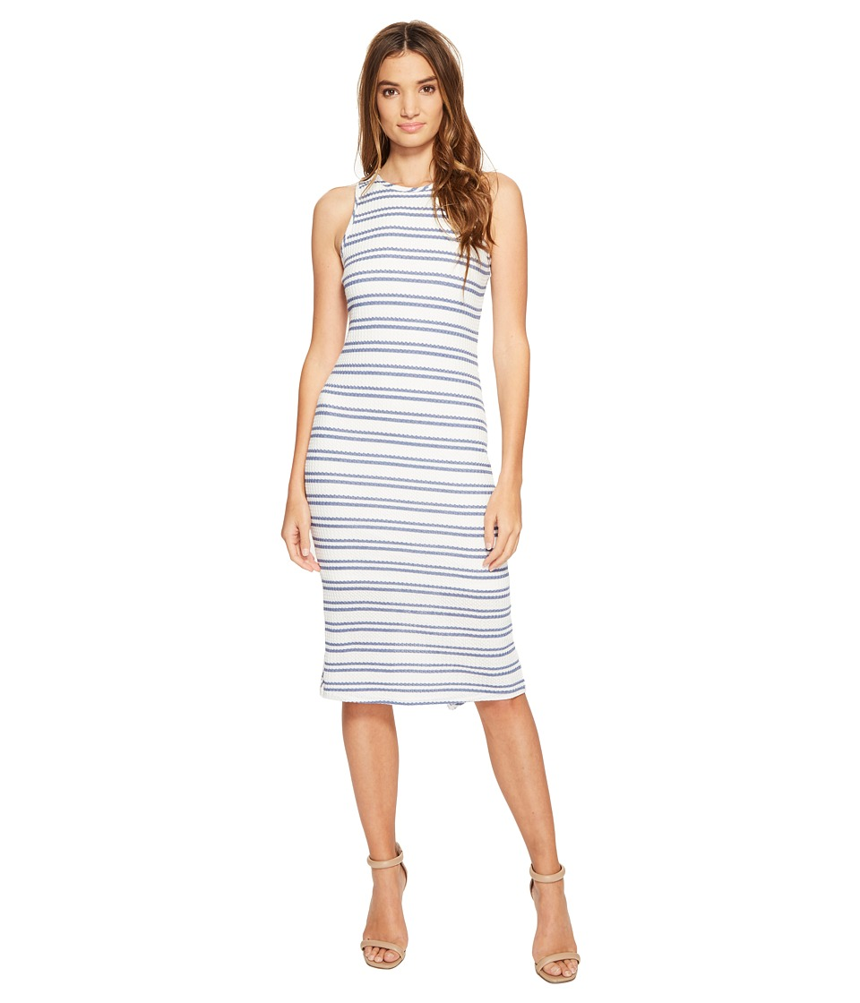 Brigitte Bailey - Maren Waffle Sleeveless Dress with Back Strap Detail (Blue) Women's Dress