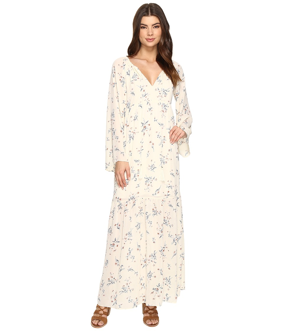 Brigitte Bailey - Jody Long Sleeve Floral Print Maxi Dress (Ivory) Women's Dress