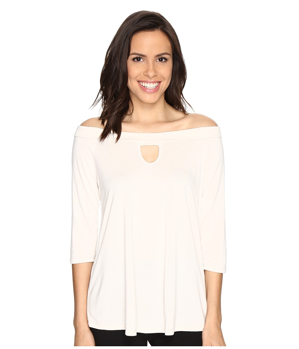 Brigitte Bailey - Kennedy Off the Shoulder Keyhole Top (Ivory) Women's Clothing